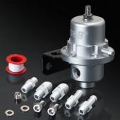 Universal Matt Silver Adjustable Fuel Pressure Regulator