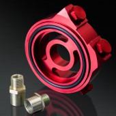 Honda/ Acura/ Subaru/ Mitsubishi/ Mazda/ Ford/ Nissan/ Toyota/ Suzuki Red Oil Filter Sandwich Plate Adapter Kit