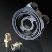 Honda/ Acura/ Subaru/ Mitsubishi/ Mazda/ Ford/ Nissan/ Toyota/ Suzuki Black Oil Filter Sandwich Plate Adapter Kit