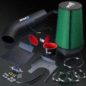 2001-2006 GMC Silverado/Sierra 1500HD 6.0L V8 High Performance Black Cold Air Intake System Kit with Green Air Filter