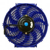 Upgr8 Universal High Performance 12V Slim Electric Cooling Radiator Fan With Fan Mounting Kit (12 Inch, Blue)