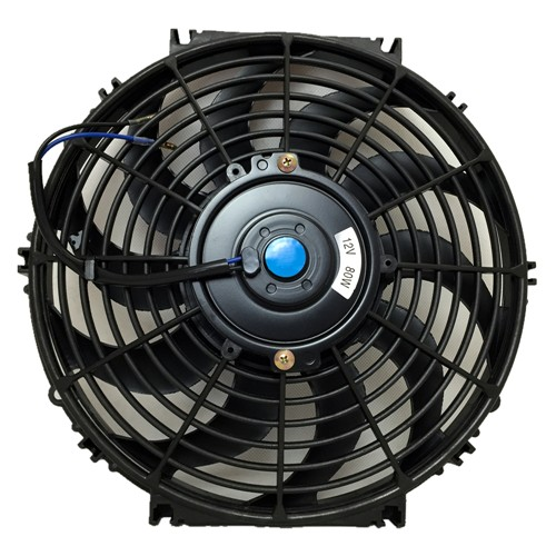 Upgr8 Universal High Performance 12V Slim Electric Cooling Radiator Fan With Fan Mounting Kit (12 Inch, Black) …