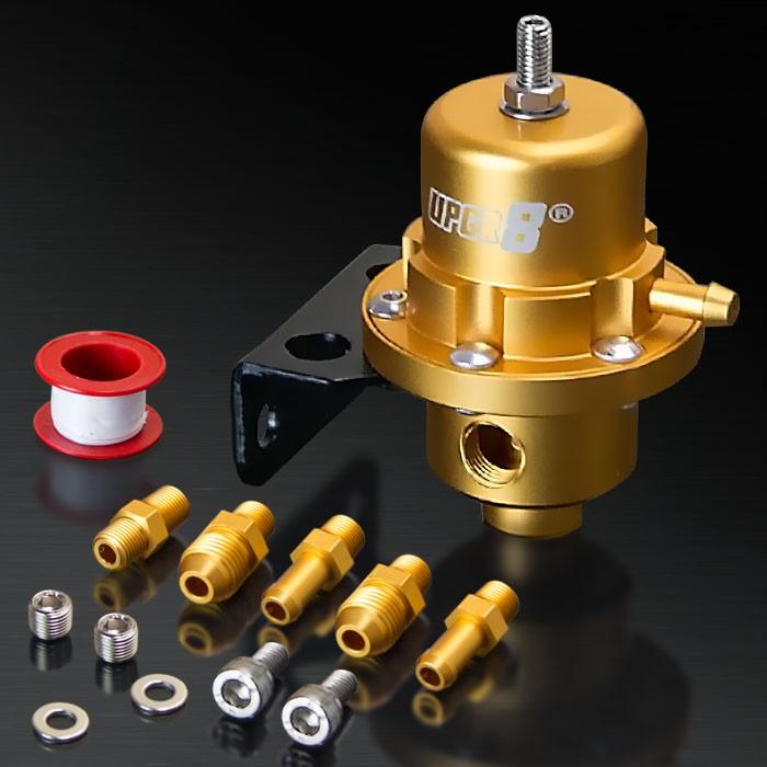 Universal Matt Gold Adjustable Fuel Pressure Regulator