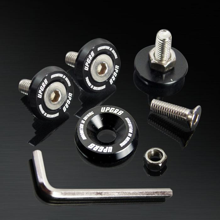 Black 10MM 4 Pieces Fender Washer Kit