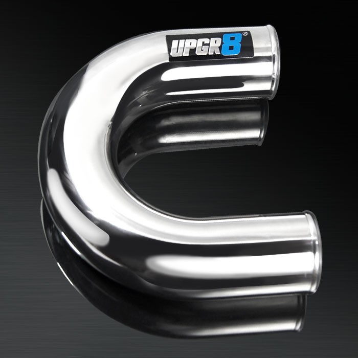 Universal 3.5'' Outside Diameter 180 Degree Polished Aluminum Pipe