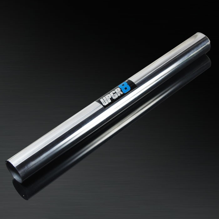 Universal 2.25'' Outside Diameter Straight 590mm 360 Degree Polished Aluminum Pipe