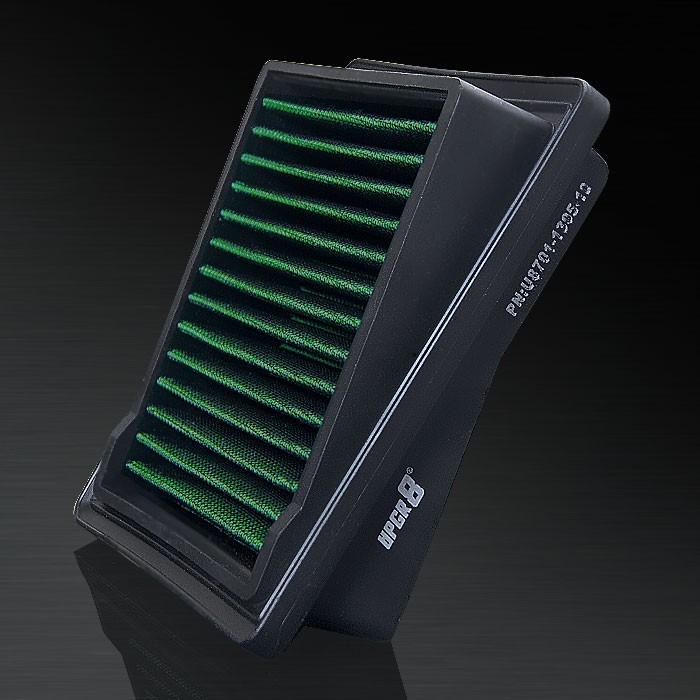 2007-2008 Honda Jazz 1.4L L4 F/I HD PRO OEM Replacement High Performance Green/Black Drop-In Panel Air Filter