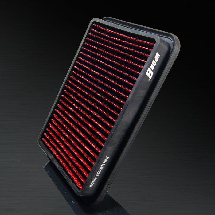 1990-1991 Geo Storm 4-1.6L F/I 16V DOHC (5) HD PRO OEM Replacement High Performance Red/Black Drop-In Panel Air Filter