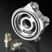 Honda/ Acura/ Subaru/ Mitsubishi/ Mazda/ Ford/ Nissan/ Toyota/ Suzuki Silver Oil Filter Sandwich Plate Adapter Kit