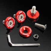 Red 10MM 4 Pieces Fender Washer Kit