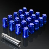 UPGR8 S-series M12X1.25MM 20 Pieces Blue Steel Closed Ended Lug Nuts with Key