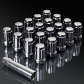 UPGR8 S-series M12X1.5MM 20 Pieces Gunmetal Steel Closed Ended Lug Nuts with Key