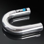 Universal 2.5'' Outside Diameter 180 Degree Polished Aluminum Pipe