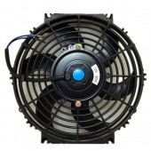 Upgr8 Universal High Performance 12V Slim Electric Cooling Radiator Fan With Fan Mounting Kit (10 Inch, Black)