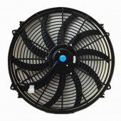 Upgr8 Universal High Performance 12V Slim Electric Cooling Radiator Fan With Fan Mounting Kit (16 Inch, Black) …