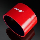 Universal 4-PLY 4.0'' High Performance Red Straight Coupler Silicone Hose 76MM Length