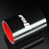 Universal 4-PLY 1.75'' High Performance Black Straight Coupler Silicone Hose 76MM Length