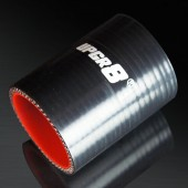 Universal 4-PLY 2.0'' High Performance Black Straight Coupler Silicone Hose 76MM Length