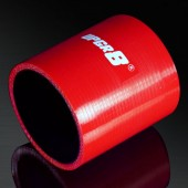 Universal 4-PLY 2.5'' High Performance Red Straight Coupler Silicone Hose 76MM Length
