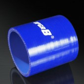 Universal 4-PLY 2.5'' High Performance Blue Straight Coupler Silicone Hose 76MM Length