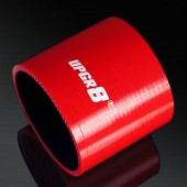 Universal 4-PLY 3.0'' High Performance Red Straight Coupler Silicone Hose 76MM Length