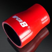 "Universal 4-PLY 1.5'' to 2.0"" High Performance Red Reducer Coupler Silicone Hose"