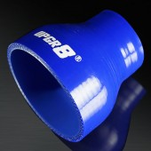 """Universal 4-PLY 1.75'' to 3.0"""" High Performance Blue Reducer Coupler Silicone Hose"""