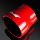 "Universal 4-PLY 2.5'' to 3.0"" High Performance Red Reducer Coupler Silicone Hose"