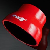 "Universal 4-PLY 3.0'' to 4.0"" High Performance Red Reducer Coupler Silicone Hose"