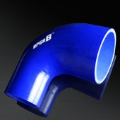 """Universal 4-PLY 2.0"""" to 3.0"""" High Performance Blue 90 Degree Reducer Coupler Silicone Hose"""