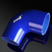"Universal 4-PLY 2.5"" to 3.0"" High Performance Blue 90 Degree Reducer Coupler Silicone Hose"