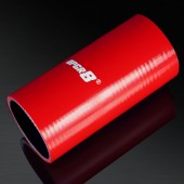 Universal 4-PLY 2.5'' High Performance Red Straight Coupler Silicone Hose 152MM Length