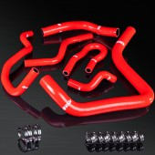 92-00 Civic/94-01 Integra B16A/B16B/B18A/B18B High Performance 4-PLY Red Radiator&Heater Silicone Hose Kit