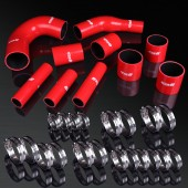 08-12 Mitsubishi Lancer EVO10 CZ4A 4B11T 2.0L Turbo High Performance 4-PLY Red Radiator Silicone Hose Kit