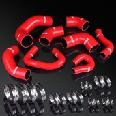 01-07 Mitsubishi Lancer EVO 7/8/9 CT9A 4G63T 2.0L Turbo High Performance 4-PLY Red Turbo&Heater Silicone Hose Kit