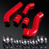 07-13 Mitsubish Lancer Evolution EVO 10 High Performance 4-PLY Red Turbo Boost Silicone Hose Kit