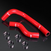 92-97 Mazda RX-7 FD3S High Performance 4-PLY Red Radiator Silicone Hose Kit