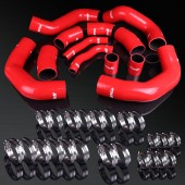 07-13 Nissan Skyline GT-R R35 VG38DETT High Performance 4-PLY Red Turbo Intercooler Silicone Hose Kit