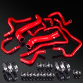 08-12 Impreza WRX STI GRB/GH EJ25/09-12 Forester SH5 EJ25/03-09 Legacy BL5/BP5 EJ25 High Performance 4-PLY Red Radiator&Heater Silicone Hose Kit