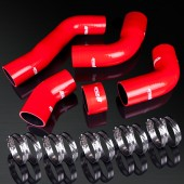 93-02 Toyota Supra JZA80 2JZ-GTE High Performance 4-PLY Red Turbo Intercooler Silicone Hose Kit