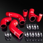 96-04 Volvo 850-T5/850-T5R/850R/S70-T5/V70-T5 High Performance 4-PLY Red Turbo Induction Silicone Hose Kit